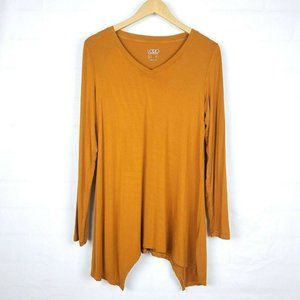Logo Layers Lori Asymmetric Knit Tunic Size M